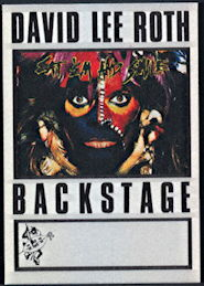 ##MUSICBP0334  - 1986 David Lee Roth Eat 'Em and Smile Tour OTTO Backstage Pass