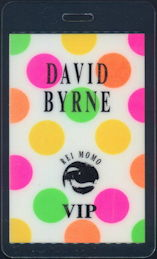 ##MUSICBP0375 - David Byrne (Talking Heads) Laminated OTTO Backstage Pass from the 1989 Rei Momo Tour