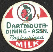 #DC125 - Very Rare Dartmouth College Dining - Assn. Milk Bottle Cap