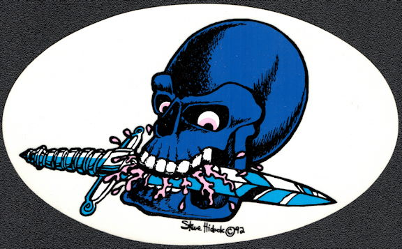 ##MUSICBP2010 - Grateful Dead Tour Sticker/Decal - Blacklight Skull Chewing on a Sword