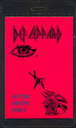 ##MUSICBP0437  - 1985 Def Leppard Laminated Backstage Groupie Pass from the Pyromania Tour