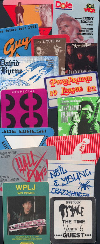 ##MUSICBP0146.1 - Special Deal #6 - 15 Different 1980s and 90s Cloth Backstage Passes from Well Known Music Groups