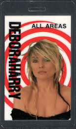 ##MUSICBP0465  - 1989 Deborah Harry OTTO Laminated Backstage Pass from the Def, Dumb & Blonde Tour