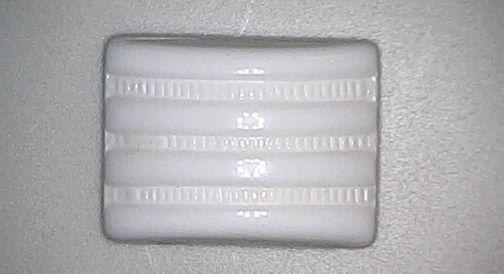 #BEADS0473 - 16mm Pre War Japan White Deco Cushion Cabochon - As low as 20¢ ea