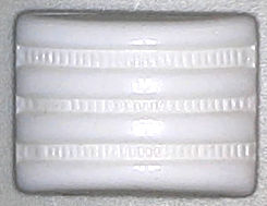 #BEADS0473 - 16mm Pre War Japan White Deco Cushion Cabochon - As low as 20¢ ea
