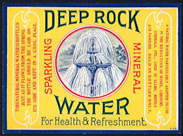 #ZL199 - Deep Rock Sparking Mineral Water - Extremely Old and Rare