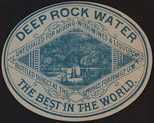 #ZLS184 - Deep Rock Water Springs Bottle Label - Extremely Old and Rare