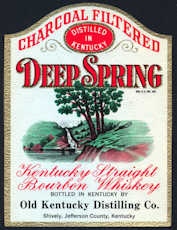 #ZLW135 - Deep Spring Kentucky Whiskey Label - As low as 25¢