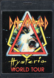 ##MUSICBP0092  - Def Leppard Hysteria World Tour Laminated Backstage Pass