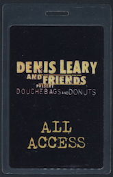#CH369 - Denis Leary and Friends Laminated Backstage Pass from the Douche Bags and Donuts Tour