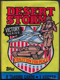 #ZZA250 - 1991 Desert Storm Victory Series Waxed Card Pack