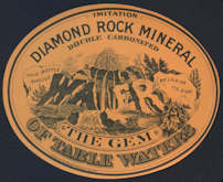 #ZLS188 - Rare Diamond Rock Mineral Water Label - Early Ladwig & Shranck Milwaukee