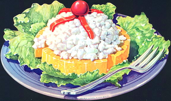 #SIGN195 - Diecut Diner Lunch Sign with Cottage Cheese and Pineapple Platter - As low as 50¢ each