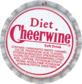 #BC048 - Group of 10 Diet Cheerwine Plastic Lined Soda Caps