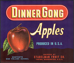 #ZLC452 - Dinner Gong Apple Crate Label