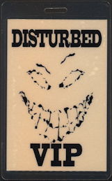 ##MUSICBP0440  - Rare Disturbed VIP Laminated Backstage Pass - Perri