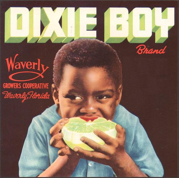 #ZLC022 - Dixie Boy Grapefruit Label with Black Boy
