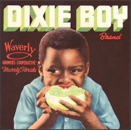 #ZLC022 - Dixie Boy Grapefruit Label with Black Boy