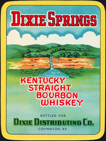 #ZLW009 - Dixie Springs Kentucky Bourbon Label