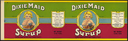 #ZLCA208 - DIxie Maid Syrup Pail Label