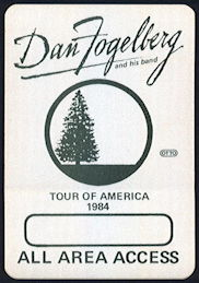 ##MUSICBP0379 - Scarce Dan Fogelberg OTTO Cloth Backstage Pass from the 1984 Tour of America Tour