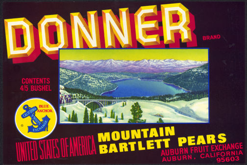 #ZLC274 - Donner Pass Pear Crate Label