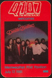 ##MUSICBP0439  - 1981 The Doobie Brothers Radio Promo OTTO Backstage Pass - Q107 - Merriweather Post Pavilion