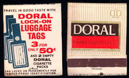 #TM100 - Full Unused Pack Front Cover Striker Doral Cigarette Matches