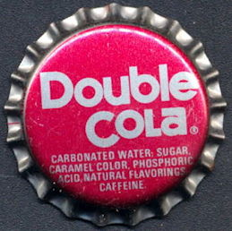 #BC163 - Group of 10 Red and Silver Double Cola Soda Caps