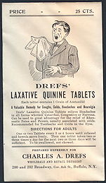 #CS367 - Large Unfilled Envelope for Drefs' Laxative Quinine Tablets Remedy