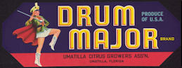 #ZLCA*020 - Drum Major Citrus Crate Label