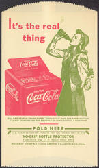 #CC254 - Coca Cola Dry Server Picturing a Girl Carrying her Roller Skates at a Coke Cooler