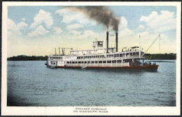 #ZZZ186 - Unused Steamboat Postcard - Steamer Dubuque on Mississippi River