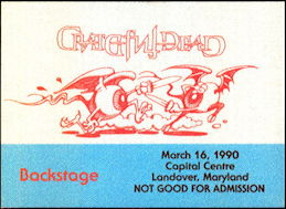 ##MUSICBP0488 - Grateful Dead Cloth OTTO Backstage Pass with Dueling Eyeballs