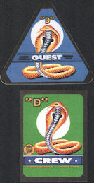 ##MUSICBP0546 - Two Different Bob Dylan OTTO Cloth Backstage Passes from the 2006 Tour - Snake