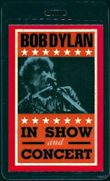##MUSICBP0336 - Laminated OTTO Bob Dylan Backstage Pass from the 1996 tour (with Van Morrison and Joni Mitchell )