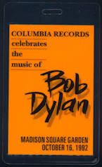 ##MUSICBP0064 - 1992 Bob Dylan 30 year Anniversary Concert (Featuring Tom Petty) Backstage Pass