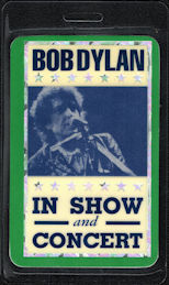 """##MUSICBP0174 - Rare Bob Dylan Laminated OTTO Laser Foil Backstage Pass from the """"1997"""" Tour"""