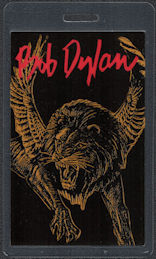 ##MUSICBP0833 - Uncommon Laminated OTTO Bob Dylan Pass with Winged Lion Pictured From the 1992 Tour