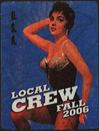 ##MUSICBP0472 - 2006 Bob Dylan OTTO Cloth Local Crew Backstage Pass from the Fall USA Tour - Pinup