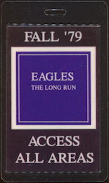 ##MUSICBP0461 - Rare Eagles 1979 Laminated OTTO Backstage pass from The Long Run Tour
