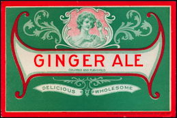 #ZLS231 - Early Turn of the Century Ginger Ale Label