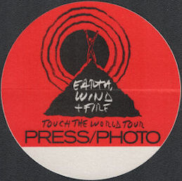##MUSICBP0714  - Earth Wind & Fire OTTO Cloth Backstage Pass from the 1988 Touch the World Tour