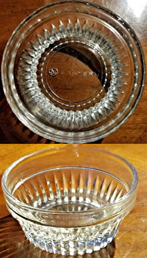 #CA119 - Eastern Airline Glass Butter Pat Dish