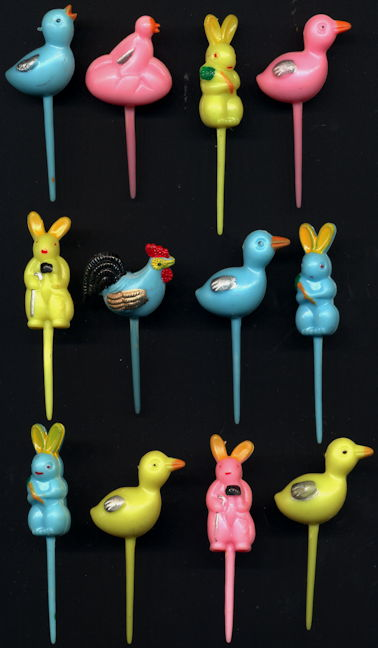 #HH216 - Group of 12 Old Easter Picks