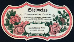 #ZBOT205 - Edelweiss Disappearing Cream Bust Developer Label