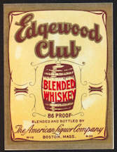 #ZLW130 - Edgewood Club Whiskey Label