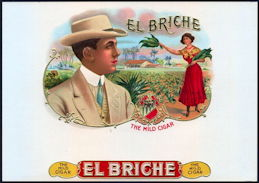 #ZLSC101 - El Briche Inner Cigar Box Label