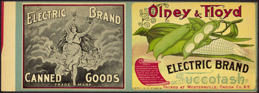 #ZLCA152 - Very Rare Very Early Electric Brand Succotash Can Label