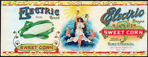#ZLCA257 - Electric Brand Sweet Corn Can Label